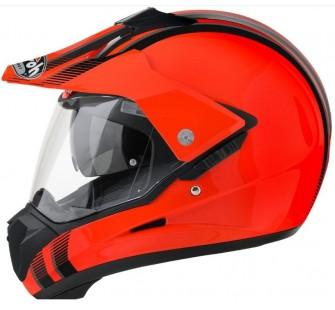 Airoh Кроссовый шлем со стеклом S5 LINE оранжевый