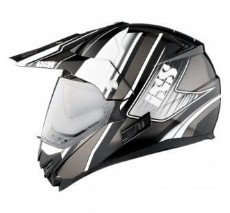 IXS Шлем HX207 ATLAS с визором чёрно-белый