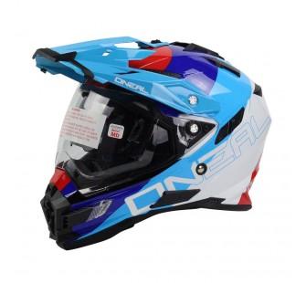 ONEAL Шлем Sierra Adventure Helmet EDGE красный/синий/белый