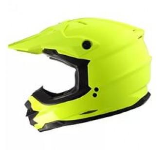 XTR Шлем кроссовый со стеклом DSE1 флуоресцентнно-желтый