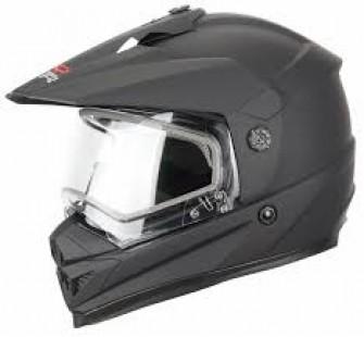 XTR Шлем кроссовый со стеклом DSE1 черный матовый