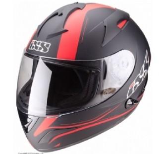 Шлем интеграл HX275 Night чёрный/красный матовый