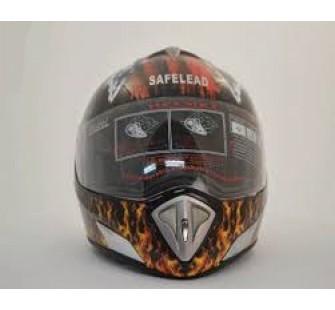 """Шлем интеграл """"Safelead"""" LX-180 черный А03"""