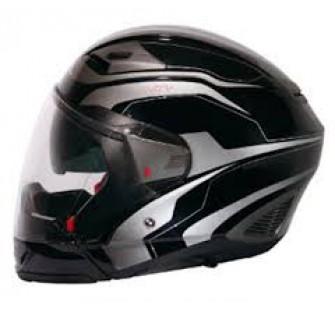 Шлем интеграл ZONDER-806 Metallic Black/II31 Red