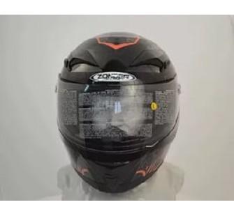 Шлем интеграл ZONDER-807 A Metallic Black/ZZ1 Orange