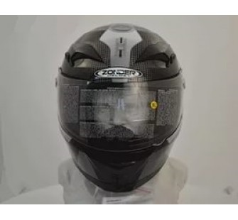 Шлем интеграл ZONDER-807 A Solid Black/ZZ2