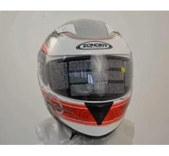 Шлем интеграл ZONDER-810 A White/J9 Red