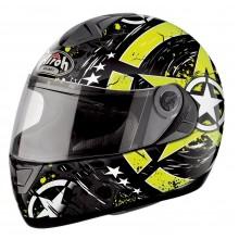 Airoh Шлем интеграл ASTER-X SKULL чёрно-желтый