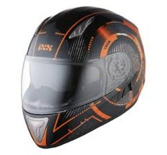 IXS Шлем интеграл HX 1000 Tron черно-оранжевый