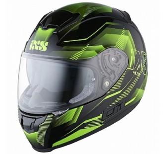 IXS Шлем интеграл HX 215 Cristal черно-зеленый