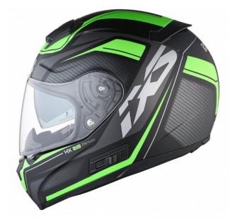 IXS Шлем интеграл HX 215 Zenium черно-зеленый
