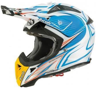 Airoh Кроссовый шлем Aviator2.1 Linear BICOLOR бело-голубой