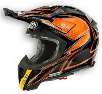 Airoh Кроссовый шлем Aviator2.1 Linear BICOLOR чёрно-оранжевый