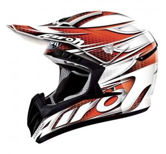 Airoh Кроссовый шлем CR901 LINEAR бело-оранжевый