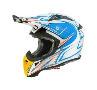 Airoh Кроссовый шлем TERMINATOR2.1 LEVELS голубой