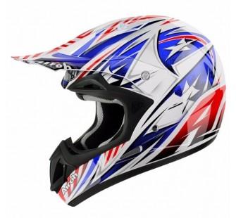 JT Racing Шлем кроссовый  ALS1.0 бело-красно-синий