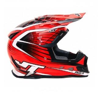 JT Racing Шлем кроссовый  ALS1.0 красный