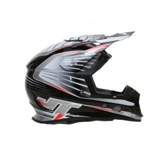 JT Racing Шлем кроссовый  ALS1.0 черно-серый