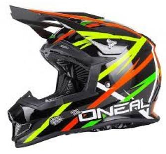 ONEAL Кроссовый шлем 10 Series GLITCH чёрный/цветной