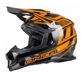 ONEAL Кроссовый шлем 2Series MANALISHI чёрно-оранжевый