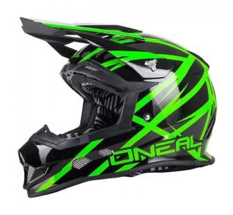 ONEAL Кроссовый шлем 2Series THUNDERSTRUCK чёрно-зеленый