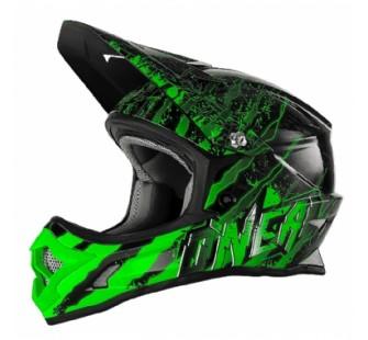 ONEAL Кроссовый шлем 3Series MERCURY чёрно-зеленый
