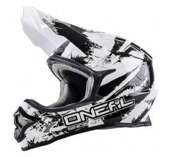 ONEAL Кроссовый шлем 3Series SHOCKER чёрно-белый