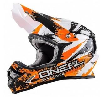 ONEAL Кроссовый шлем 3Series SHOCKER чёрно-оранжевый