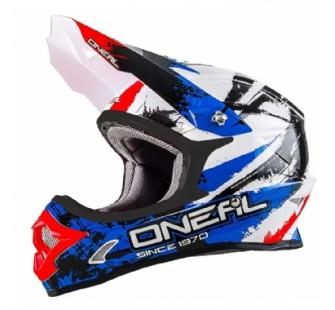 ONEAL Кроссовый шлем 3Series SHOCKER чёрно-сине-красный