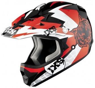 IXS Шлем кросс детский HX278 TIGER красный