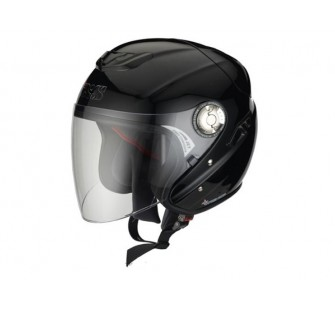 IXS Открытый шлем с большим стеклом HX91 чёрный