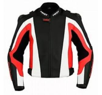 Куртка кожаная FIRST MACH II black&white&red