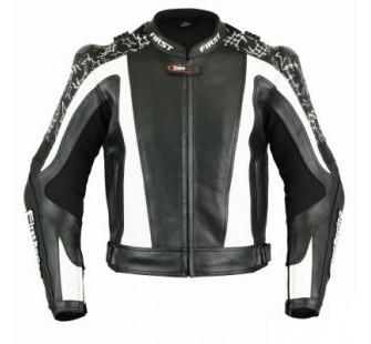 Куртка кожаная FIRST MACH II black&white