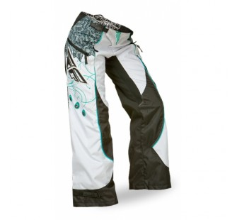 fly racing kinetic lady boot cut blue&white