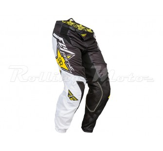 fly racing kinetic mesh rockstar black&white&yellow