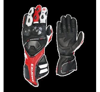 Перчатки кожаные EXUSTAR E-MG155 black&red&white