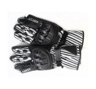 Перчатки FIRST RACER grey&black