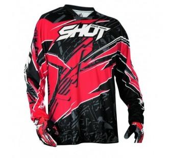 Джерси для мотокросса SHOT DEVO MOTION red&black