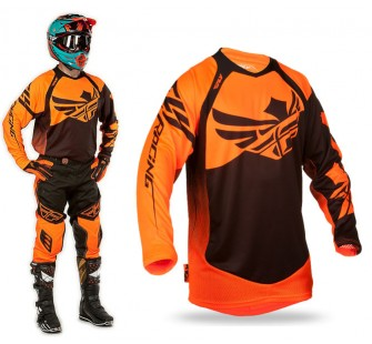 футболка fly racing evolution clean 2.0 black&orange