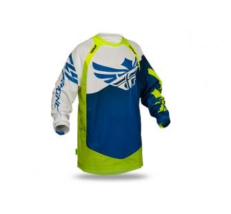 Футболка fly racing evolution clean 2.0 blue&yellow