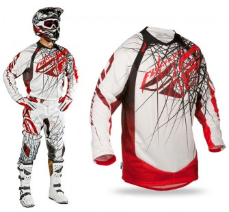 Футболка fly racing evolution clean 2.0 red&black&white
