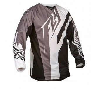 fly racing kinetic division black&white