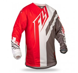 fly racing kinetic division red&grey&white