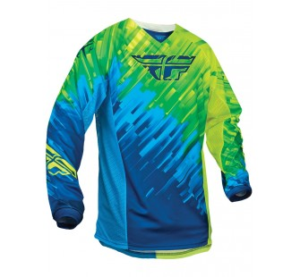fly racing kinetic glitch blue&yellow