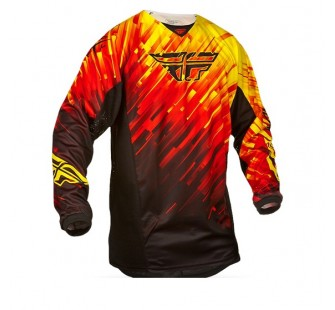 fly racing kinetic glitch red&black&yellow