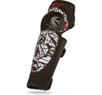 Защита колена fly racing barricate black&white