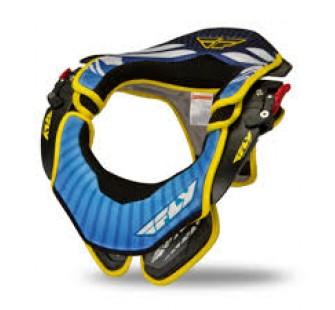 Защита шеи fly racing pro lite carbon neck brace blue&black