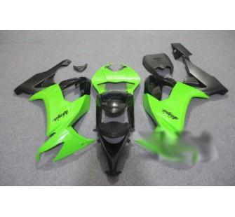 Комплект пластика для мотоцикла Kawasaki ZX-10R 08-09 Зелено-Черный