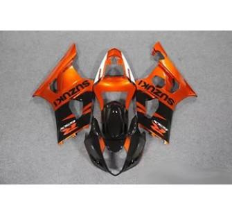 Комплект пластика для мотоцикла Suzuki GSX-R1000 03-04 Красно-Черный