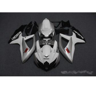 Комплект пластика для мотоцикла Suzuki GSX-R600 750 08-10 Бело-Серебрянный